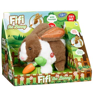 Fifi the Bunny - Brown & White