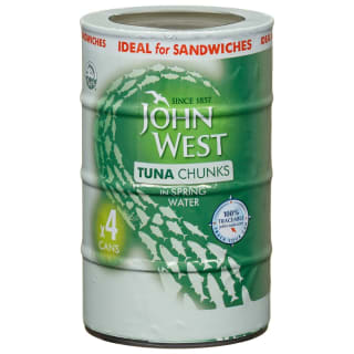 John West Tuna Chunks in Spring Water 4pk