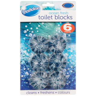 Freshclean Toilet Blocks 6pk - Ocean Fresh