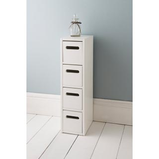 Polar 4 Drawer Unit - White
