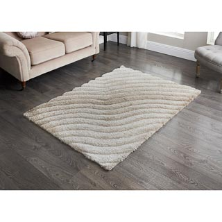 Sculptured Metallic 3D Rug 110 x 160cm