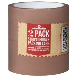 Packaging Tape 48mm x 30m 2pk