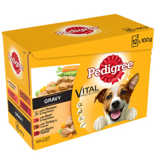 Pedigree Dog Food in Gravy 12pk