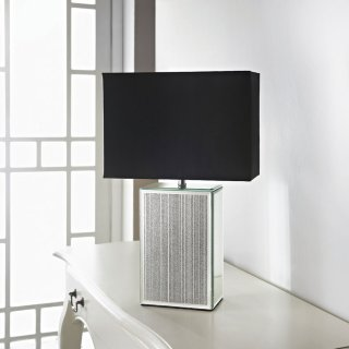 Mirror Glitter Table Lamp - Silver
