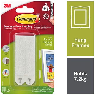 Command Picture Hanging Strip Large 4pk