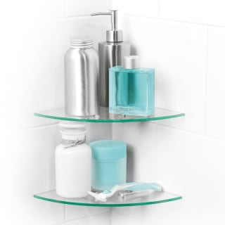 Beldray Two Tier Glass Corner Shelves