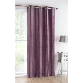 Rhodes Faux Silk Pleated Fully Lined Panel 54 x 86""