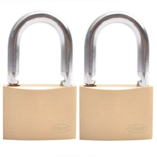 Rolson Brass Padlock 40mm 2pk