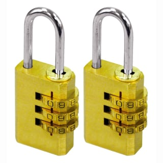 Rolson Brass Combination Padlock 40mm 2pk