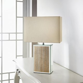Mirror Glitter Table Lamp - Gold