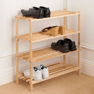 4 Tier Wooden Shoe Rack