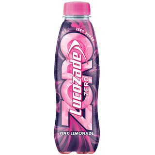 Lucozade Zero 380ml - Pink Lemonade