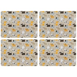 Stylish Placemats 4pk - Dogs