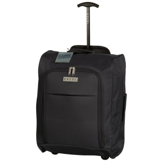 Excel Foldable Cabin Trolley Bag - Black