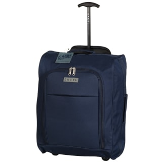 Excel Foldable Cabin Trolley Bag - Navy