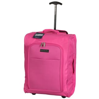 Excel Foldable Cabin Trolley Bag - Pink