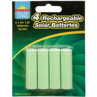 Rechargeable Solar Batteries 4pk