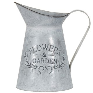 Galvanised Jug Planter