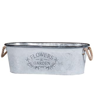 Galvanised Trough Planter