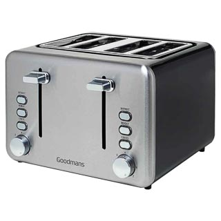 Goodmans 4 Slice Toaster - Black