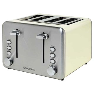 Goodmans 4 Slice Toaster - Cream