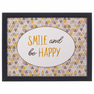 Cushioned Lap Tray - Smile & be Happy