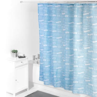 Beldray Printed Shower Curtain - Blue Bubbles