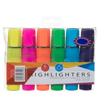 Highlighter Pens 6pk
