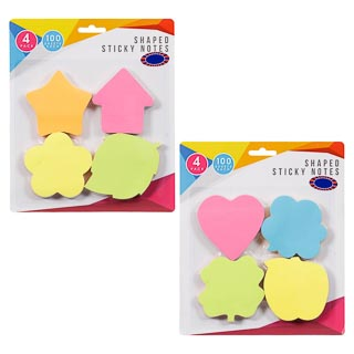 Shaped Sticky Notes 4pk