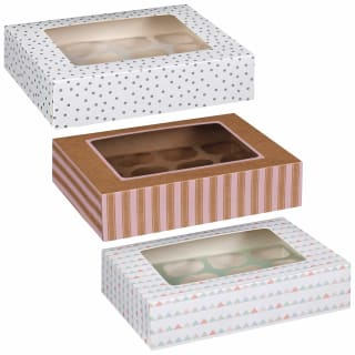 Betty Winters Large Cupcake Boxes 2pk