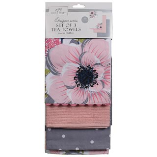 Karina Bailey Modern Tea Towels 3pk - Floral