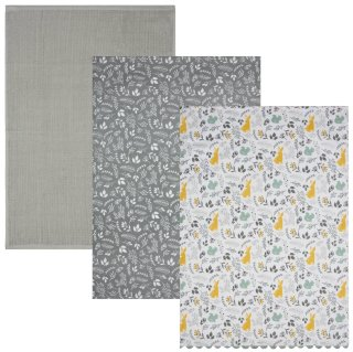 Karina Bailey Traditional Tea Towels 3pk - Woodland