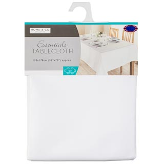 Essentials Tablecloth 132 x 178cm - White