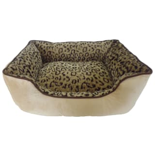 Faux Fur Pet Bed - Leopard Print