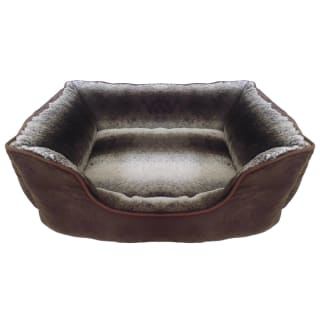Faux Fur Pet Bed - Brown