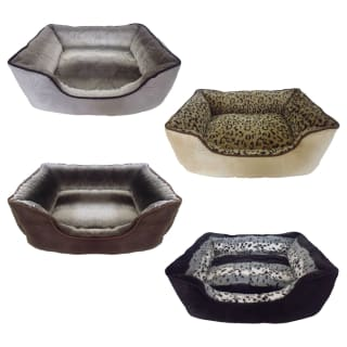 Faux Fur Pet Bed - Grey