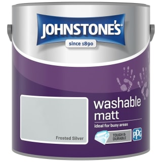 Johnstone's Washable Matt Paint - Frosted Silver 2.5L
