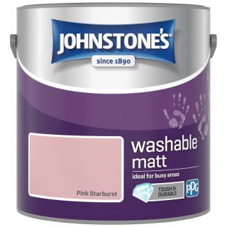 Johnstone's Washable Matt Paint - Pink Starburst 2.5L