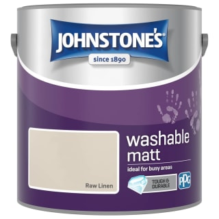 Johnstone's Washable Matt Paint - Raw Linen 2.5L