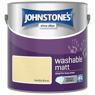 Johnstone's Washable Matt Paint - Vanilla Burst 2.5L