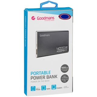 Goodmans Power Bank 4000mAh