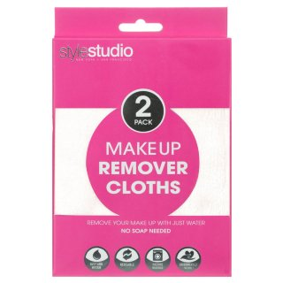 Make-Up Remover Cloths 2pk - White