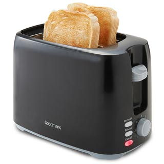 Goodmans 2-Slice Toaster - Black