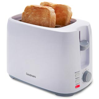 Goodmans 2-Slice Toaster - White