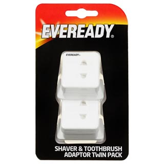 Eveready Shaver & Toothbrush Adapter Twin Pack