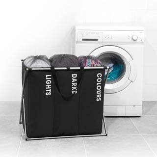 Beldray Triple Laundry Hamper - Black