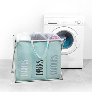 Beldray Triple Laundry Hamper - Mint