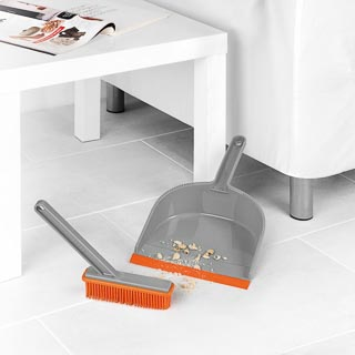 Beldray Rubber Dustpan & Brush