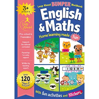 Leap Ahead Workbook English & Maths 3+