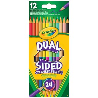 Crayola Dual Sided Coloured Pencils 12pk